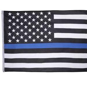 Police Thin Blue Line USA Flag 3x5 Feet
